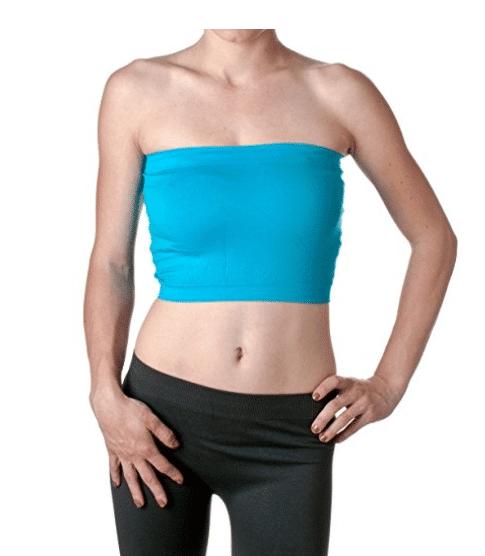 fa1c5823f9 2NE1 Apparel Women s Basic Stretch Layer Seamless Tube Bra Bandeau Top ...
